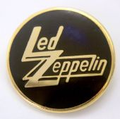 Led Zeppelin - 'Logo' Round Enamel Badge